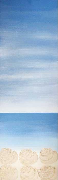 Tiree shell sand - acrylic on canvas