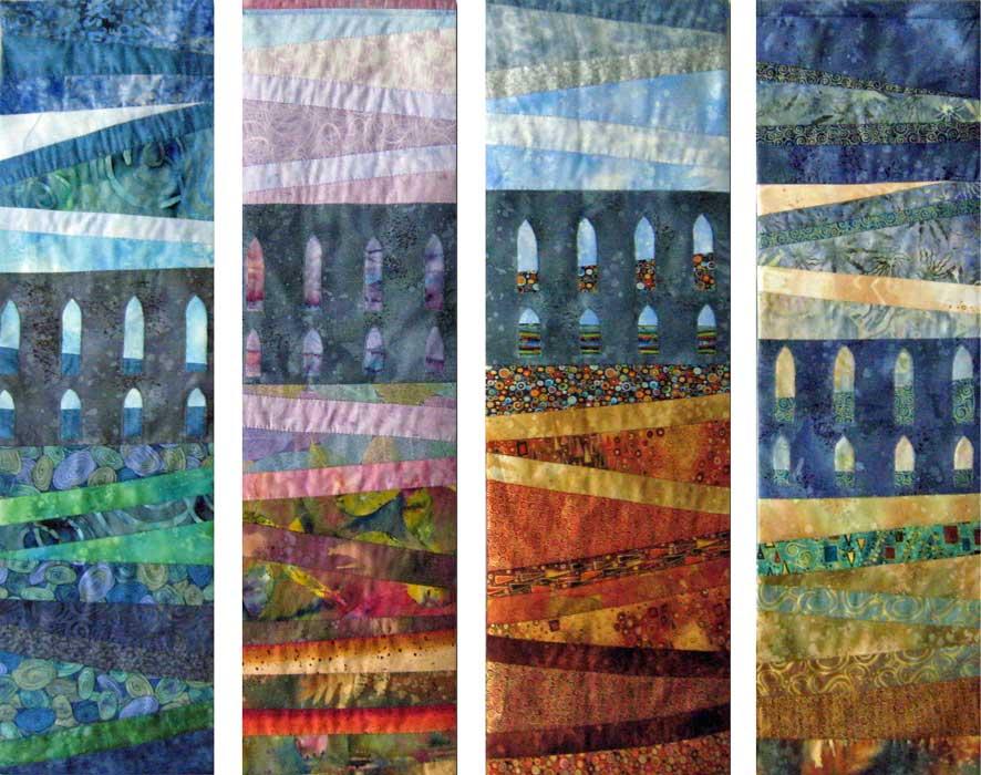 seasons - textile panels