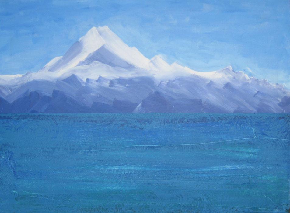 Aoraki - acrylic painting