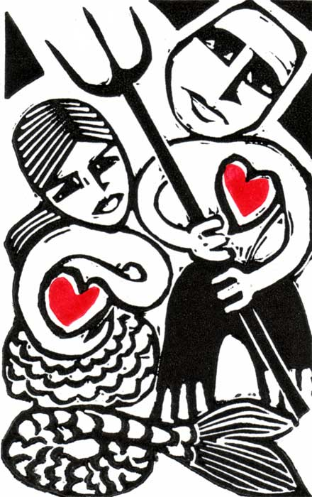 Betrothed - linocut