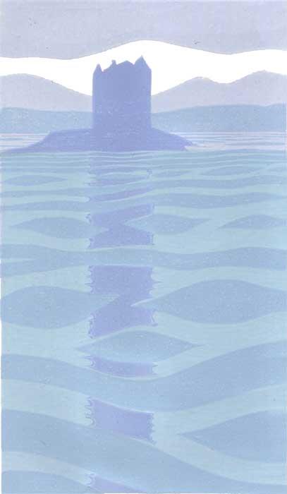 elements: water - linocut