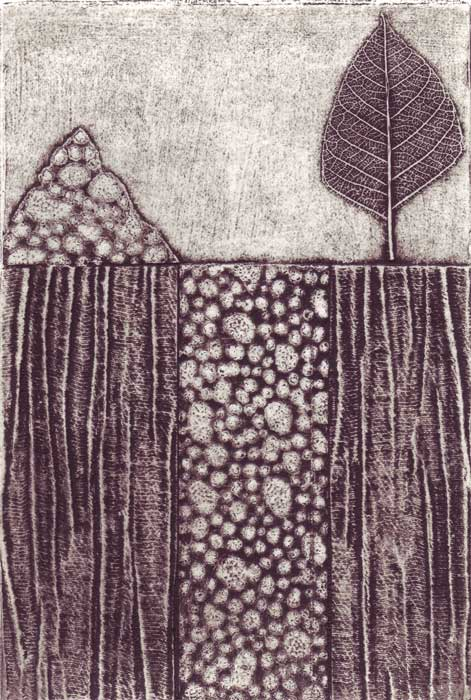 orchy I - collagraph
