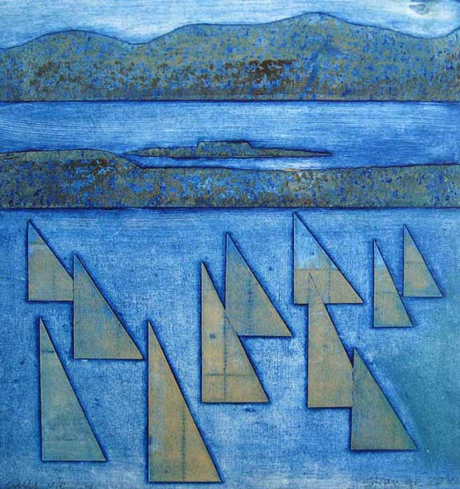 sails I - collagraph