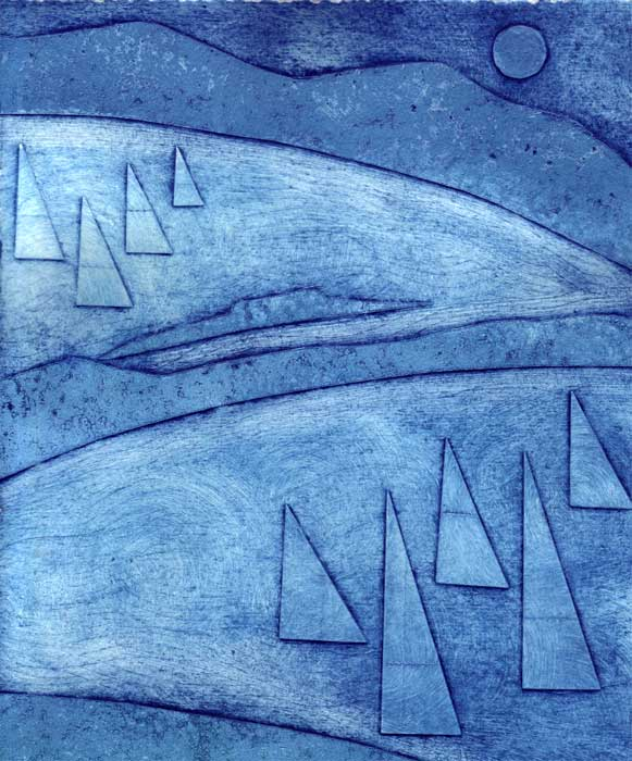 sails II - collagraph