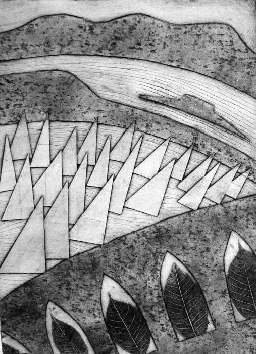 sails III - collagraph