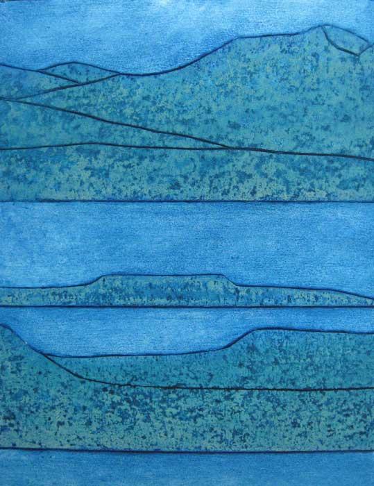 islands - collagraph