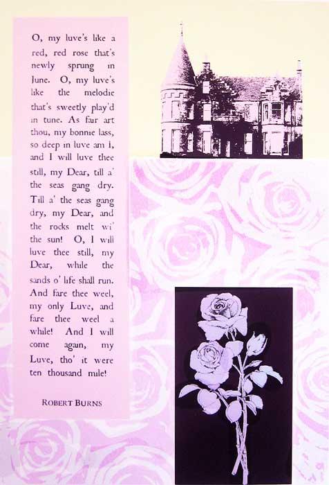 old romantic - screenprint