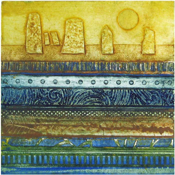 layers III - collagraph