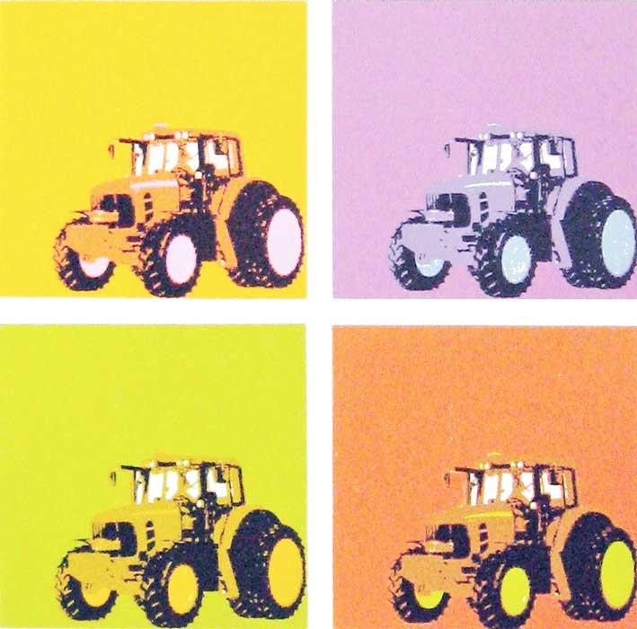tractor - screenprint
