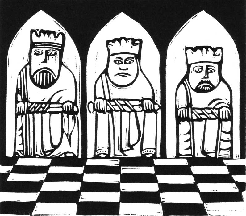 three kings - linocut