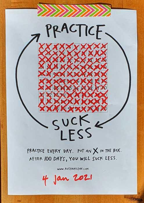 practice-suck-less-100-days-end